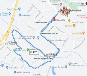 Mapa de Carrera Urbana Upacesur